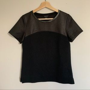 Club Monaco Tee, Leather Detail